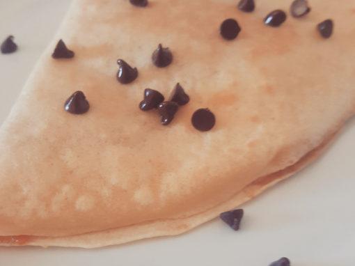 Crêpes senza uova e latte