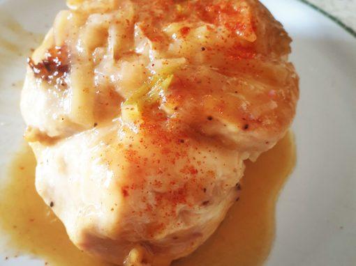 Pollo al limone laccato al miele